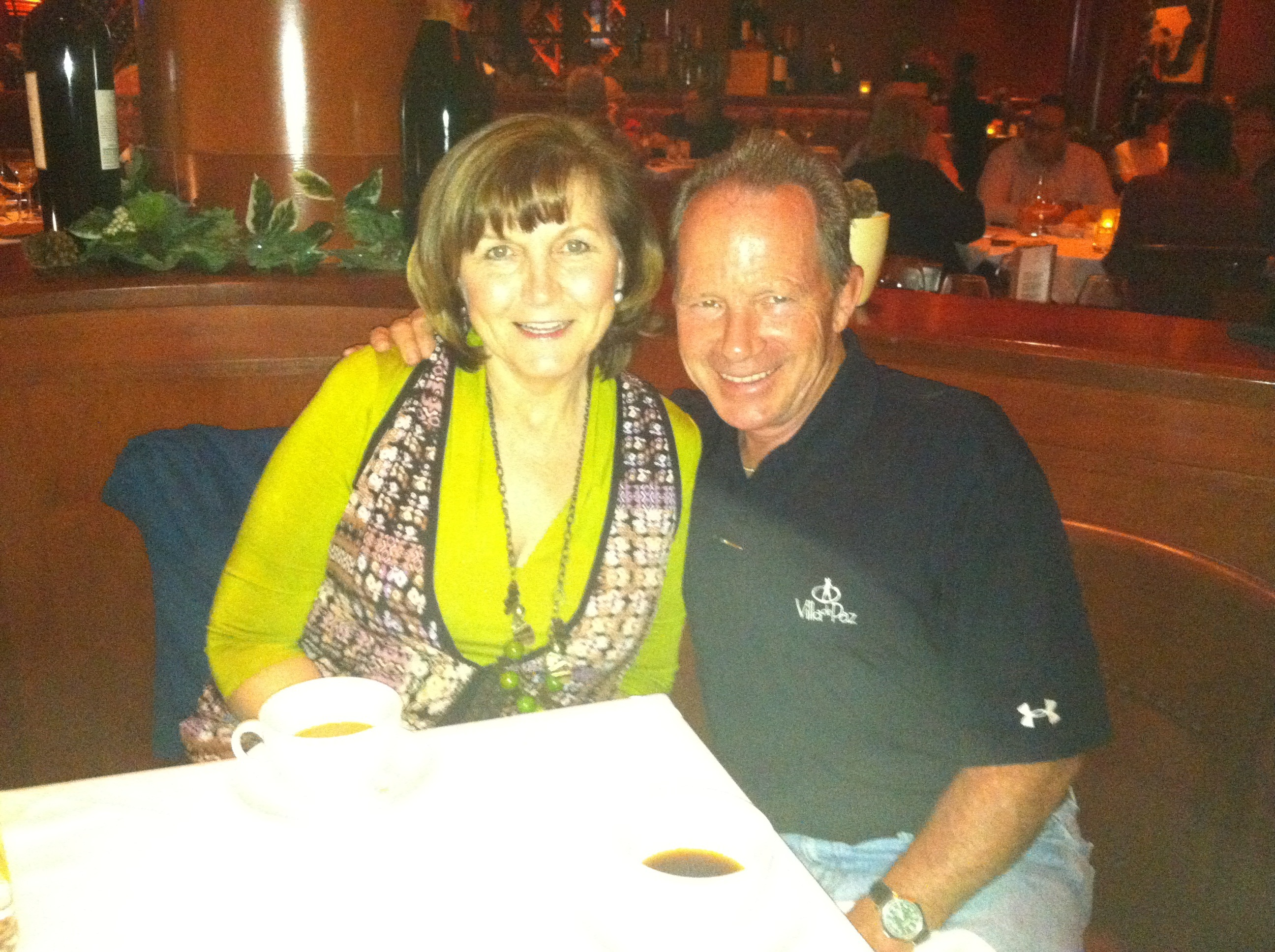 Tom and Nancy enjoying dinner at Flemings, a local restaurant in Glendale, Arizona.